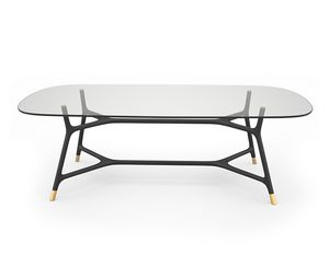 Joyce 5701/F, Eleganter Tisch mit Glasplatte