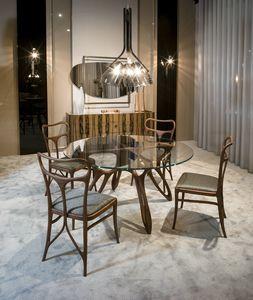 PROMETEO Tisch GEA Collection, Moderner Esstisch mit Glasplatte