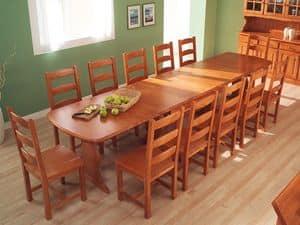 Collection Amb 05, Rechteckiger Tisch aus Holz, für Hotels und Bergvillen