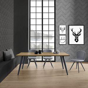 Prosit-U, Tisch mit einfacher aber widerstandsfähiger Holzbasis