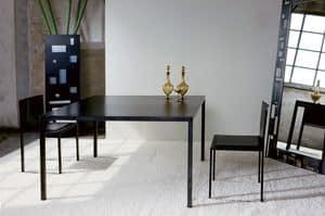 Ernesto Natural, Metall-Tisch, mit einem minimalistisches Design, auf den Millimeter kunden