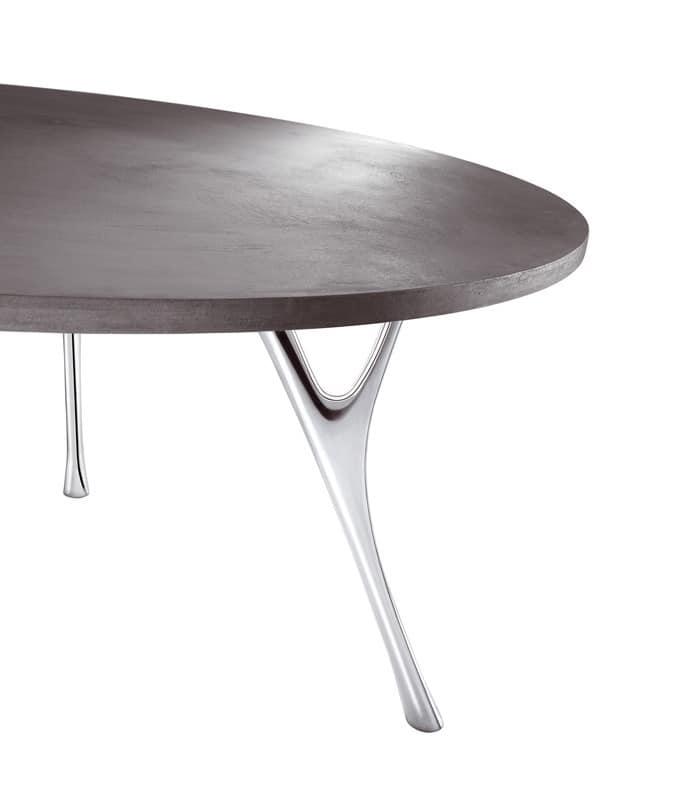 Pegaso Zement, Große rechteckiger Tisch mit Oberflächen in Zement