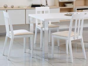 Complementi Tavoli e Consolle 15, Einfache Tabelle in Holz und Metall, für modernes Wohnen