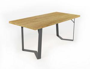 Doppiaelle, Tisch mit handgefertigter Eisenbasis