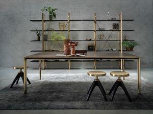 Frame Dining Table, Aluminiumdruckguss Tisch