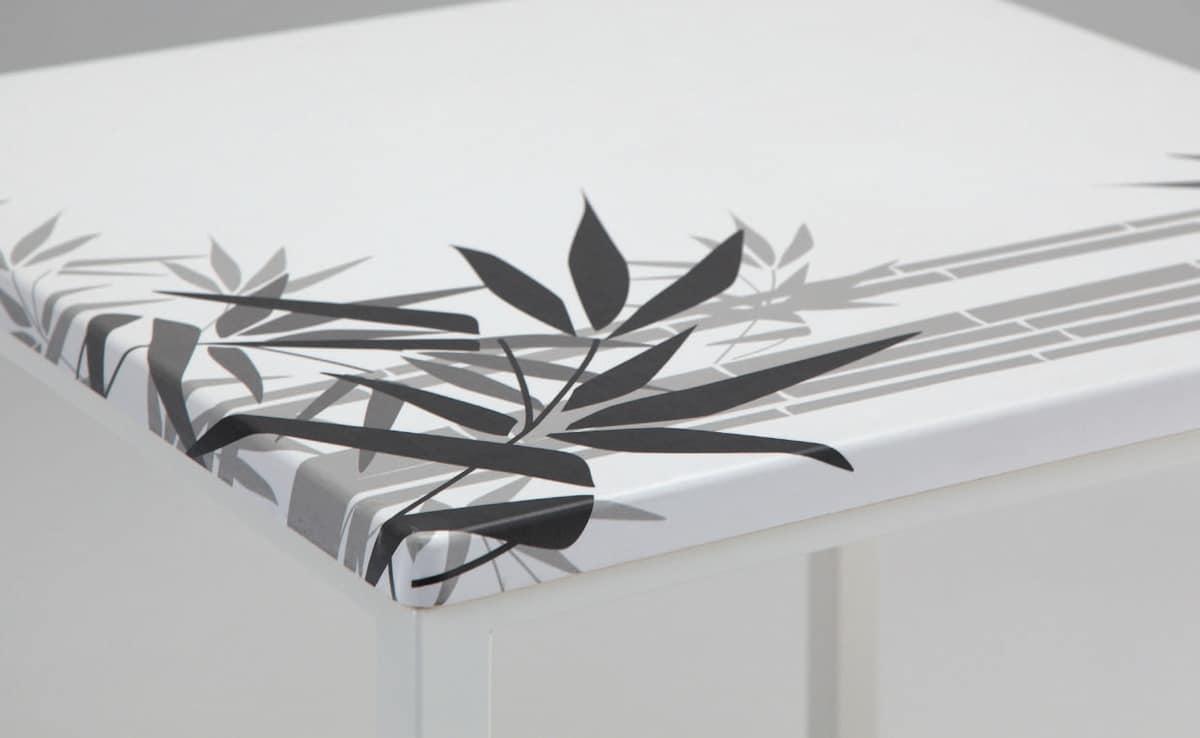 FT 044 Platz, Tabelle mit lackiertem Metall ideal für Bar