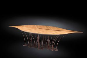 Leaf Fenice, Tisch mit blattf�rmiger Platte
