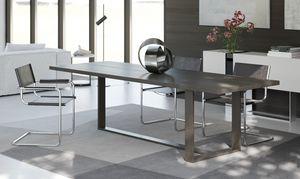 OSCAR, Rechteckige eingelegten Tisch, in Nussbaum Canaletto
