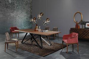 STATUS, Fester Tisch mit Holz- oder Keramikplatte