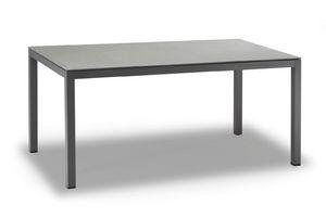 TAVOLO MESSICO, Tisch in anthrazit lackiertem Aluminium