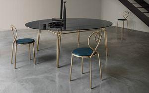 Botany Dining Table, Esstisch mit Glasplatte