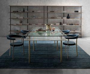 Legs Dining Table, Tisch aus Kristall und Messing