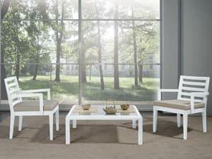 Ergänzungen Stuh 06, Stuhl mit breiten Sitz und Armlehnen, für moderne Wohnzimmer