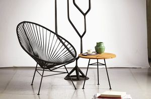 Panama, Lounge Sessel aus schwarzem Seil