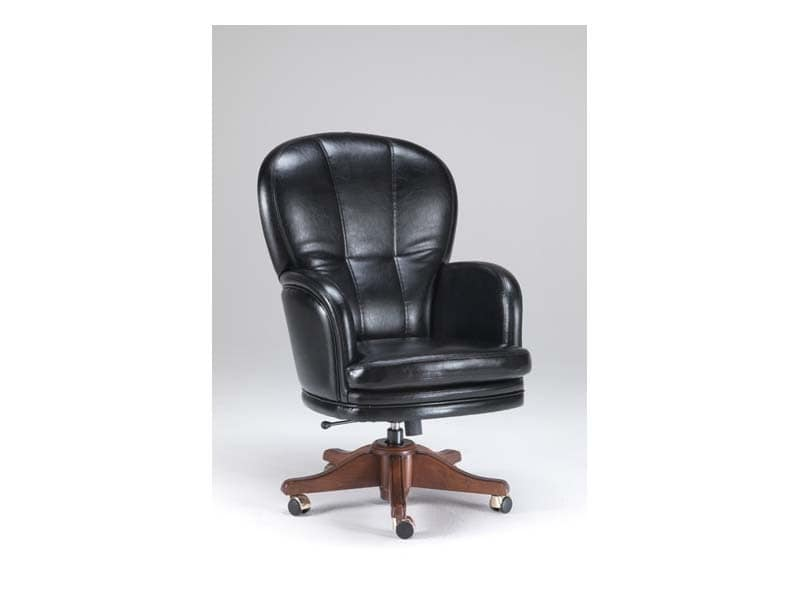 Kent 1, Klassischer Sessel in Leder, für Direktionsbüros