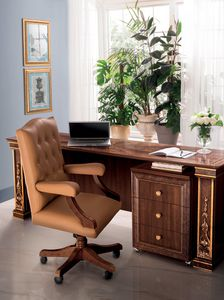 Modigliani Bürostuhl, Bürosessel aus Leder
