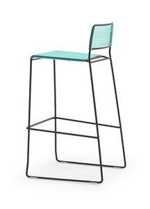 Log spaghetti ST, Stapelhockersind Rückenlehne und Sitz aus PVC farbigen Seil, geeignet für den Außenbereich