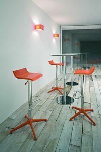 Over stool, Einstellbare modernen Barhocker aus verchromtem Stahl