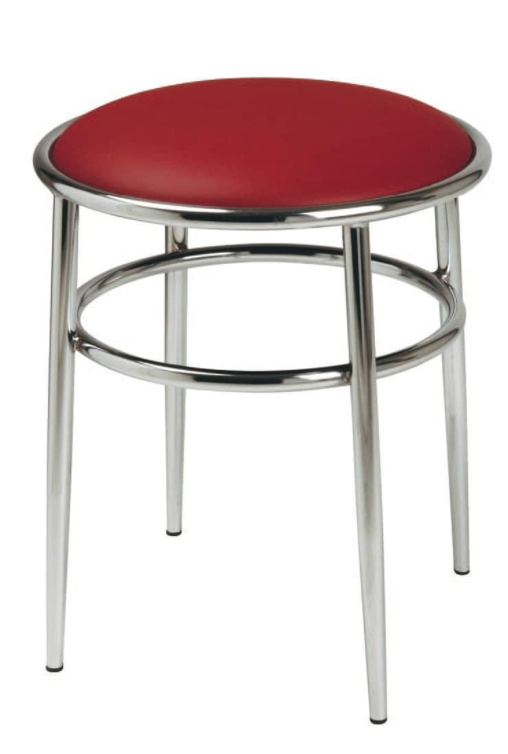 SG 028 / H, Hoher Hocker mit runder Sitzfläche gepolstert, für Kneipen