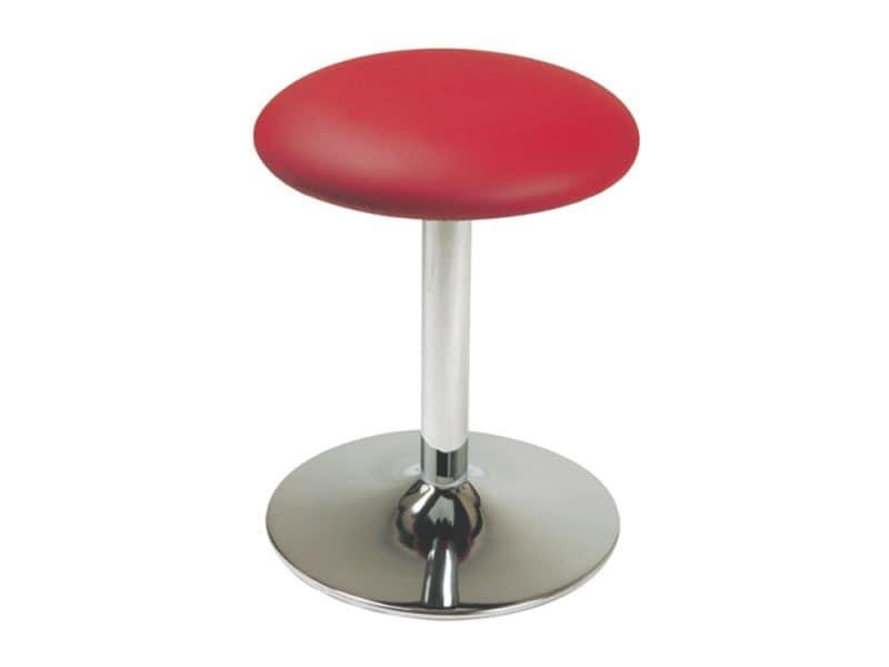 SG 034, Niedriger Hocker mit runder Sitzfläche, für Schuhgeschäft