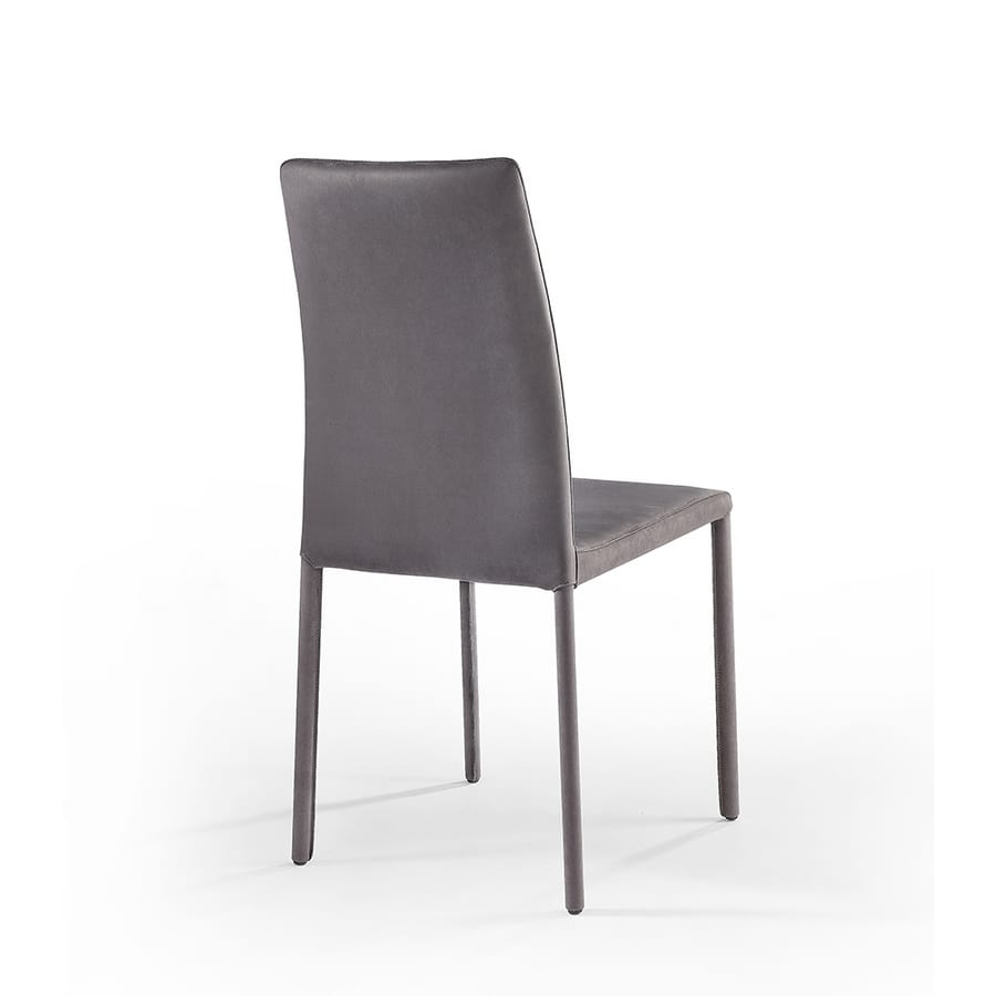 Agata high, Moderne Sessel mit hoher Rückenlehne, mit Leder überzogen