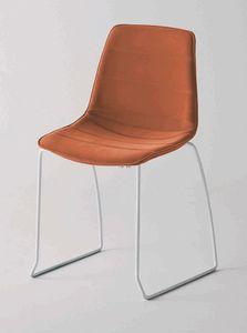 Alhambra S dress, Gepolsterter Stuhl, Schlittenfuß