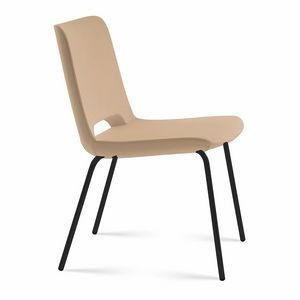 Angy open, Gepolsterter Stuhl, Metallfuß