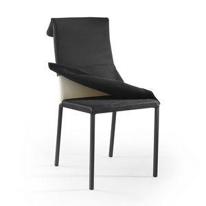 Ares abnehmbare Polsterung lackiert, Lackierter Stuhl mit abnehmbarem Bezug