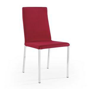 Ares abnehmbare Polsterung verchromt, Abnehmbarer Stuhl, ideal für Restaurants und Bars
