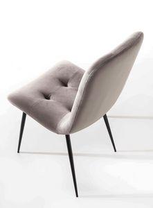 Art. 206 Zara, Esszimmerstuhl mit eleganten und weichen Linien