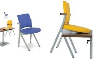 Art.Woox 3, Stuhl aus lackiertem Aluminium oder Eisen, kundengerecht