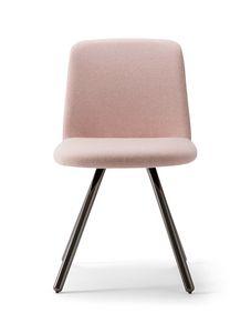 CLOÈ CHAIR 025 SL, Gepolsterter Stuhl mit Metallbeinen