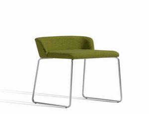 Concord 520AV, Stuhl mit Kufengestell und niedriger Rückenlehne