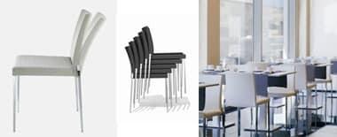 Flick 824 , Feuerfeste gepolsterte Stuhl für Hotels und Restaurants