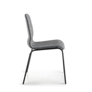 Glamour Up, Gepolsterter Stuhl mit Metallbeinen
