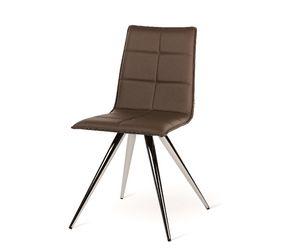 Iris-M, Moderner Stuhl mit Metallfuß