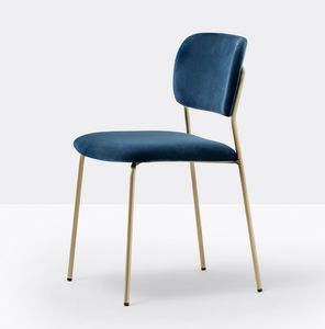 Jazz, Gepolsterter Stuhl mit leichter Stahlkonstruktion