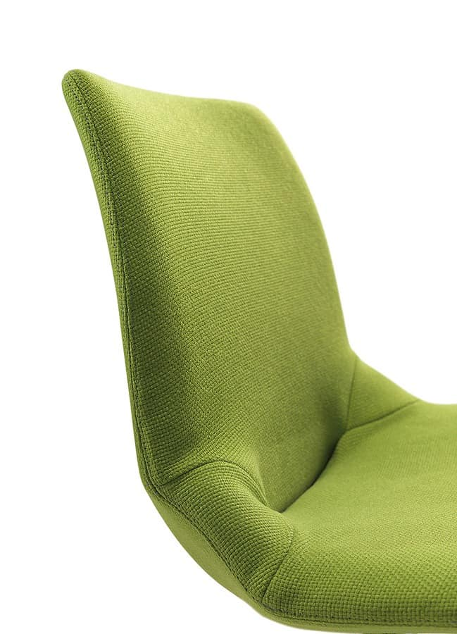 Kaleidos fabric, Metallpolsterstuhl, in verschiedenen Farben