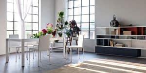Liz, Moderne Stuhl aus Kunstleder, für Küche und Esszimmer