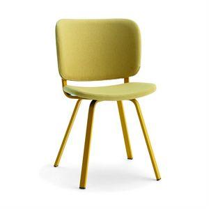 Lola, Moderner Stuhl mit bemalten Beinen
