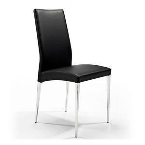 Regina, Stuhl aus Metall beschichtetes Leder, für den Empfang