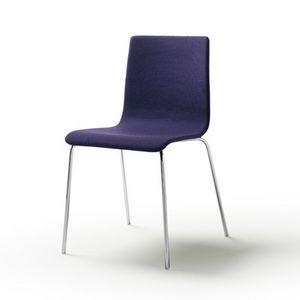 Tesa fabric, Stapelbarer Stuhl aus verchromtem oder lackiertem Stahl