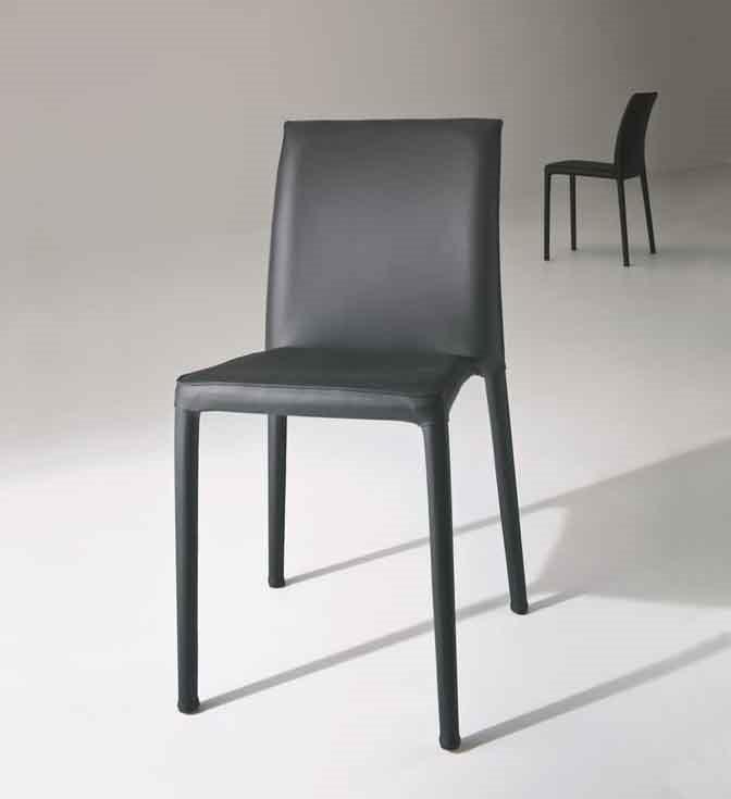 Venezia, Stapelbare Stuhl aus Metall für den Wohn- und Objektbereich