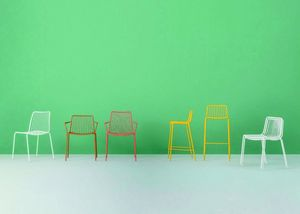 3651 Nolita, Stuhl komplett aus lackiertem Metall