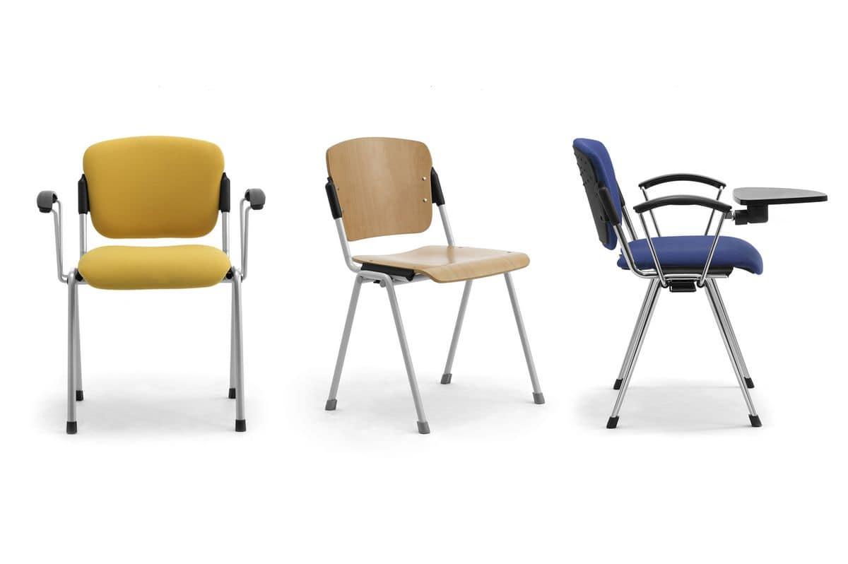Cortina 6600W, Stuhl mit Tablett für Konferenzräume
