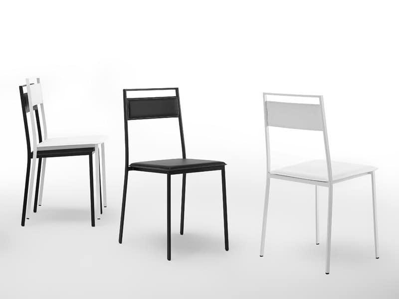 Polly, Sessel aus lackiertem Stahl, für Bäckerei