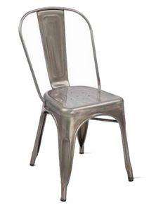 Twix, Stapelbarer Stuhl aus verzinktem Metall