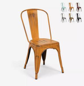Vintage Shabby Chic Metall Industrie Design Stühle Tolix Stil Steel Old SM9008INV, Vintage Urban Style Stuhl