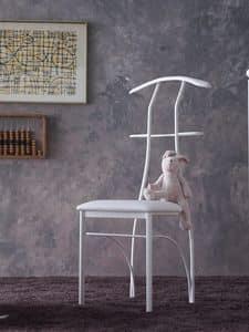 Galileo, Hanger chair, lackiertem Eisen, sitzen in Kunstleder