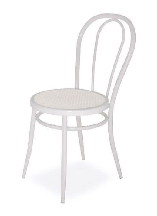 SE 020, Einfache Stühle aus gebogenem Metall, für Küche